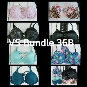 Vs 7 bras 36B bundle
